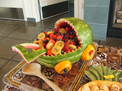 watermelon carving for baby shower. Baby Carriage Watermelon (West
