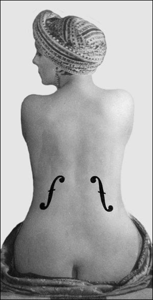 on man rays violin dingres Le violon d'ingres by man ray museums: moma, new york.