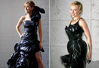 Black Dresses Made Out of Trash Bags