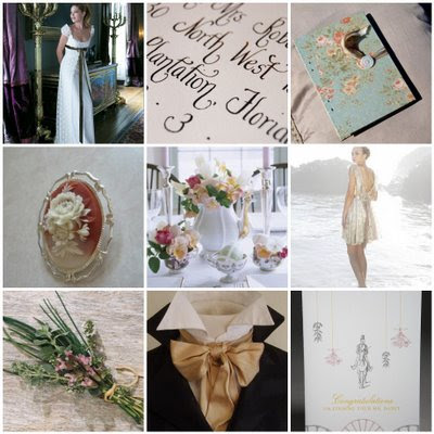 Jane Austen Regency Wedding Board