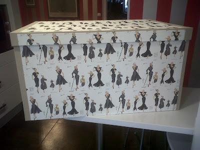cartonnage en el taller de curra: caja para vestido de novia xxl