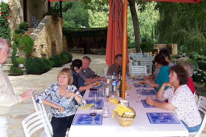 At lunch in France