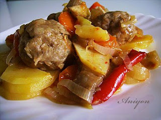 recipes - meatballs with stewed vegetables