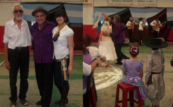 Peña del Ballet Ancha Sumaj junto al Paisa José y sus dos chinas.