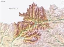 Mapa del espacio natural Alto Sil