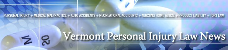 Vermont Personal Injury Law News