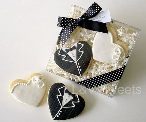l v sweets couture cookies for wedding