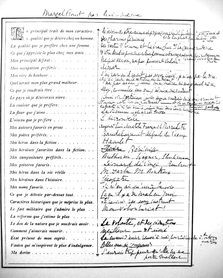Top Rackham Le Rouge: Dans la Peau de…Marcel Proust ! MD61
