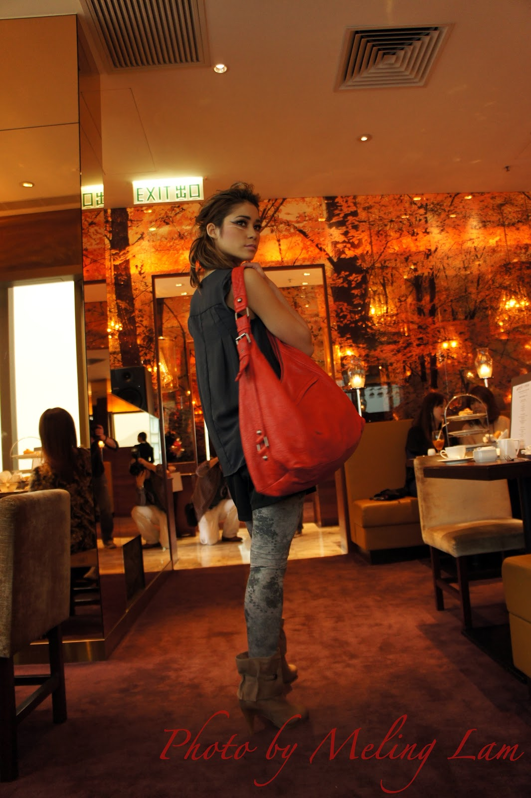 sony nex-3 pink test camera photo 測試 hotel panorama enigma fashion show high tea