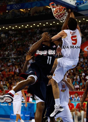 rudy fernandez, portland trailblazers, blazers, spain, spanish team, olympics, gold medal, silver medal, dunk, dwight howard, superman