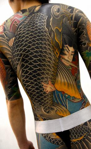 Beautiful Art of Japanese Koi Fish Tattoos With Image Japanese Koi Fish Backpiece Tattoo Designs Picture 7