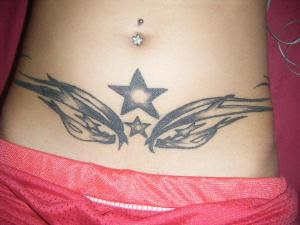 male tattoo, arm tattoo, star tattoo, female tattoo, sexy girl tattoo, wings tattoo, stomach tattoo, pregnant women tattoo