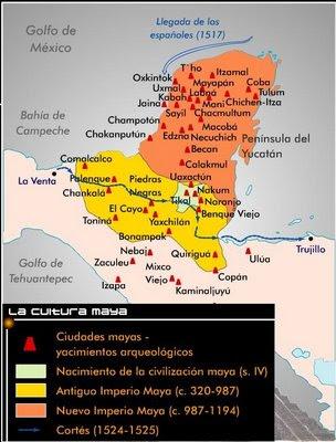 Mayas aztecas e incas los mayas origen desarrollo y for Cultura maya ubicacion