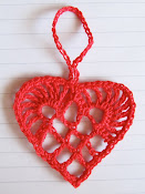 Scandinavian Crochet Heart Ornament