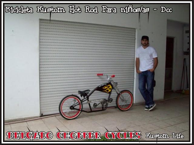 Bicicleta Kustom Hot Rod para niños rodado 20