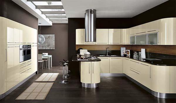 Interior design curved kitchens for Curved island kitchen designs