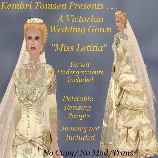 Last is the wedding treat Miss Letitia