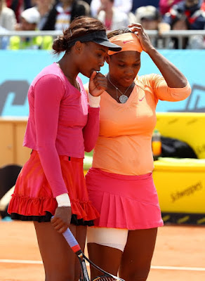 Black Tennis Pro's Venus and Serena Williams doubles team at Madrid Open