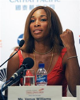 Black Tennis Pro's Venus Williams at Hong Kong Classic 2010 Press Conference