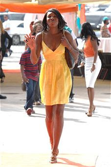 Black Tennis Pro's Venus Williams on Miami Dolphins Orange Carpet