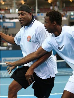 Black Tennis Pro's Gael Monfils and Leroy Loggins in Brisbane