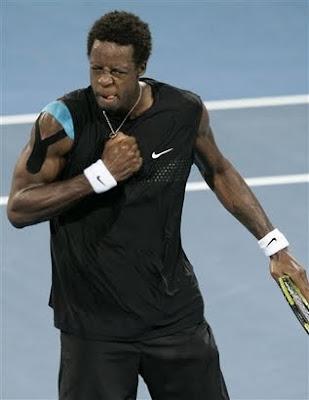 Black Tennis Pro's Gael Monfils Brisbane International Quarterfinals