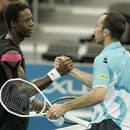Black Tennis Pro's Gael Monfils vs. Radek Stepanek at Brisbane International