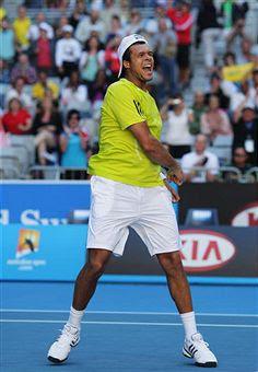 Black Tennis Pro's Jo-Wilfried Tsonga vs Sergiy Stakhovsky AO 2010
