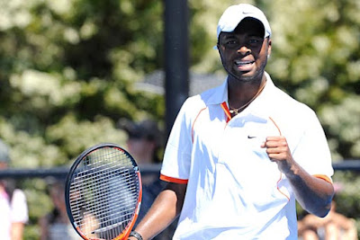 Black Tennis Pro's Donald Young vs Christophe Rochus AO 2010
