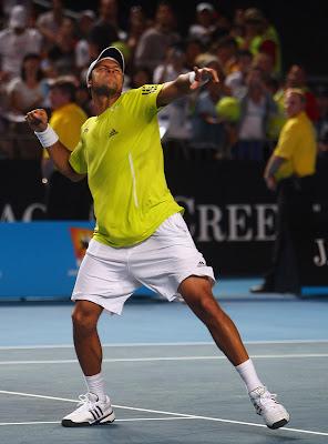 Black Tennis Pro's Jo-Wilfried Tsonga vs. Taylor Dent 2010 Australian Open