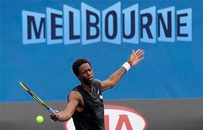 Black Tennis Pro's Gael Monfils vs Taylor Dent 2010 Australian Open