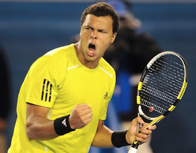 Black Tennis Pro's Jo-Wilfried Tsonga vs. Novak Djokovic 2010 Australian Open