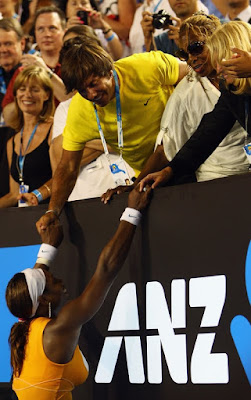 Black Tennis Pro's Serena Williams vs. Justine Henin 2010 Australian Open Final