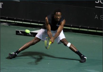 Black Tennis Pro's Gael Monfils vs. Dominik Hrbaty 2010 South African Open