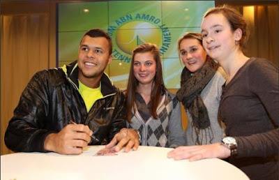 Black Tennis Pro's Jo-Wilfried Tsonga at 2010 ABN AMRO World Tennis Tournament
