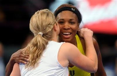 Black Tennis Pro's Venus Williams and Kim Cljisters 2010 Billie Jean King Cup