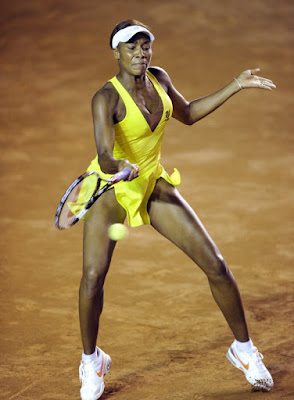 Black Tennis Pro's Venus Williams vs Laura Pous Tio at Mexican Open