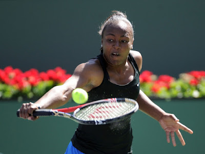 Black Tennis Pro's Shenay Perry BNP Paribas Open