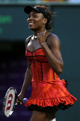 Black Tennis Pro's Venus Williams vs. Daniela Hantuchova 2010 Sony Ericsson Open