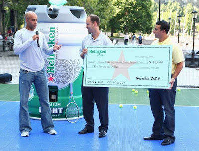 Black Tennis Pro's James Blake and Heineken