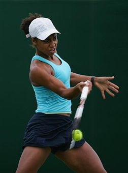 Black Tennis Pro's Raquel Kops-Jones 2008 U.S. Open
