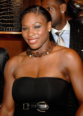 Black Tennis Pro's Serena Williams at Lebron James Family Foundation Cocktail Party