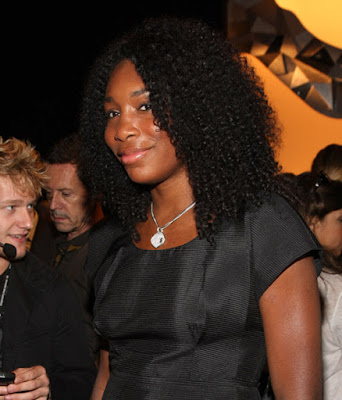Black Tennis Pro's Venus Williams at Vera Wang Fashion Show