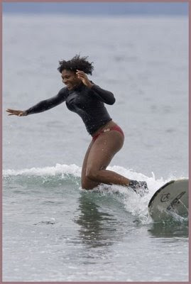 Black Tennis Pro's Serena Williams On Vacation In Hawaii