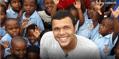 Black Tennis Pro's Jo-Wilfried Tsonga, Jeff Coetzee in South Africa
