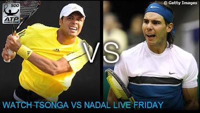 Black Tennis Pro's Jo-Wilfried Tsonga vs. Rafael Nadal ABN AMRO