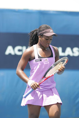 Black Tennis Pro's Brittany Augustine Los Angeles Open Carson, CA