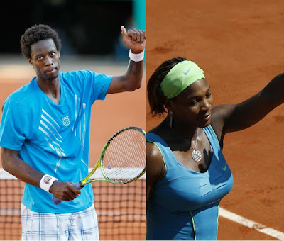Black Tennis Pro's French Open Day 2 Gael Monfils and Serena Williams