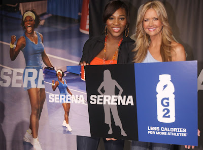 Black Tennis Pro's Serena Williams Gatorade G2 Everyday Athlete
