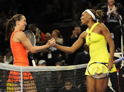 Black Tennis Pro's Venus Williams and Jelena Jankovic Billie Jean King Cup